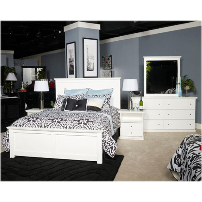 B139-57 Ashley Furniture Bostwick Shoals - White Queen Panel Bed