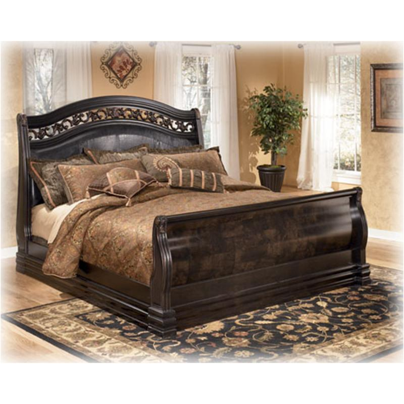 king sleigh bedroom set b327 78 furniture suzannah bedroom king sleigh bed 15762