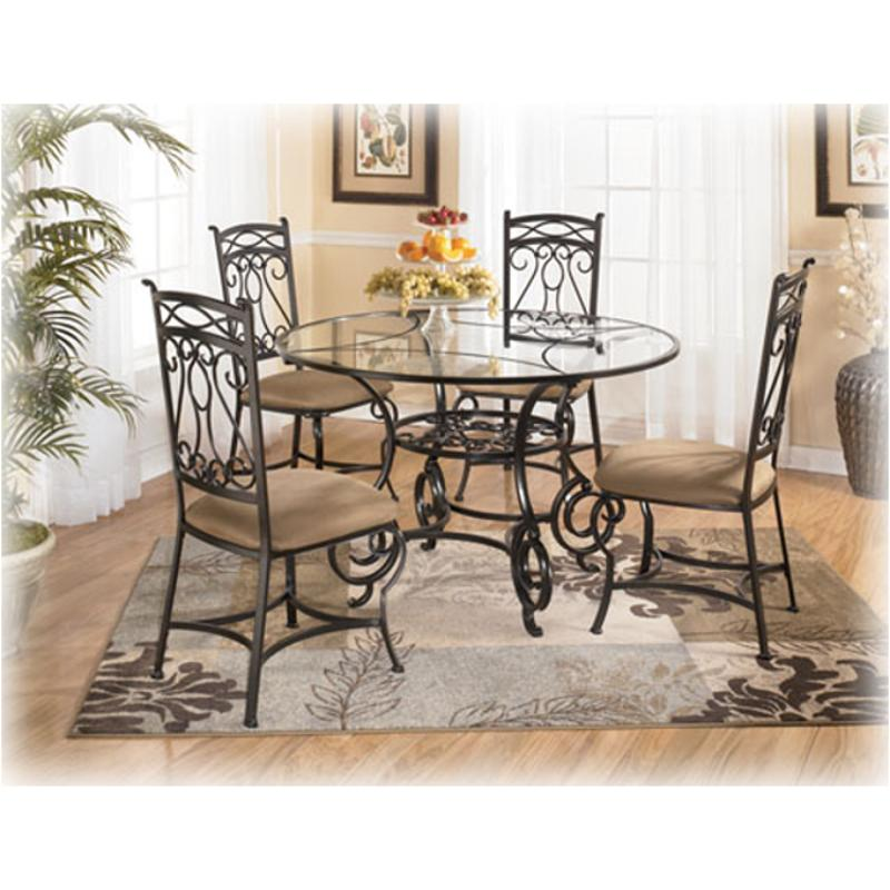 D312 225t ashley furniture bianca round glass dining table top for Living rooms bedrooms dinettes