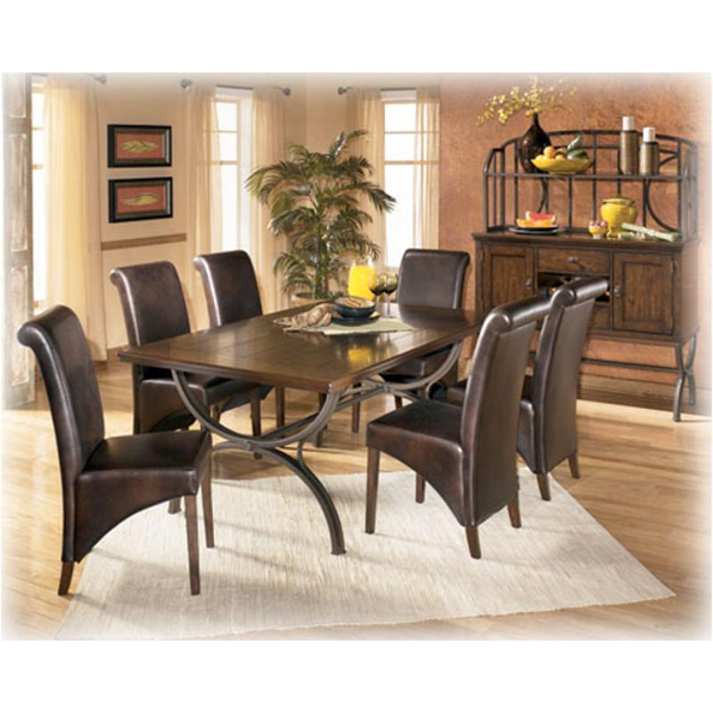 D Ashley Furniture Bassello Rectangular Dining Table - Ashley center table