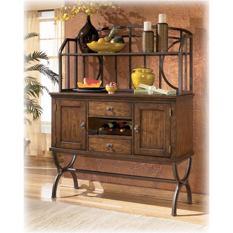 Ashley Furniture Glosco Kitchen Hutch: D555-61 Ashley Furniture Bassello Server Hutch (metal