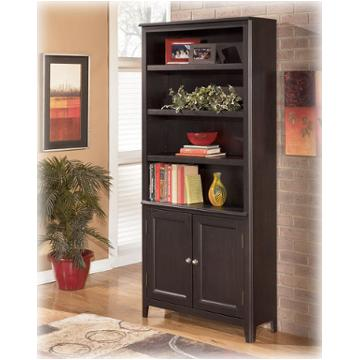H371 18 Ashley Furniture Carlyle Black Large Door Bookcase