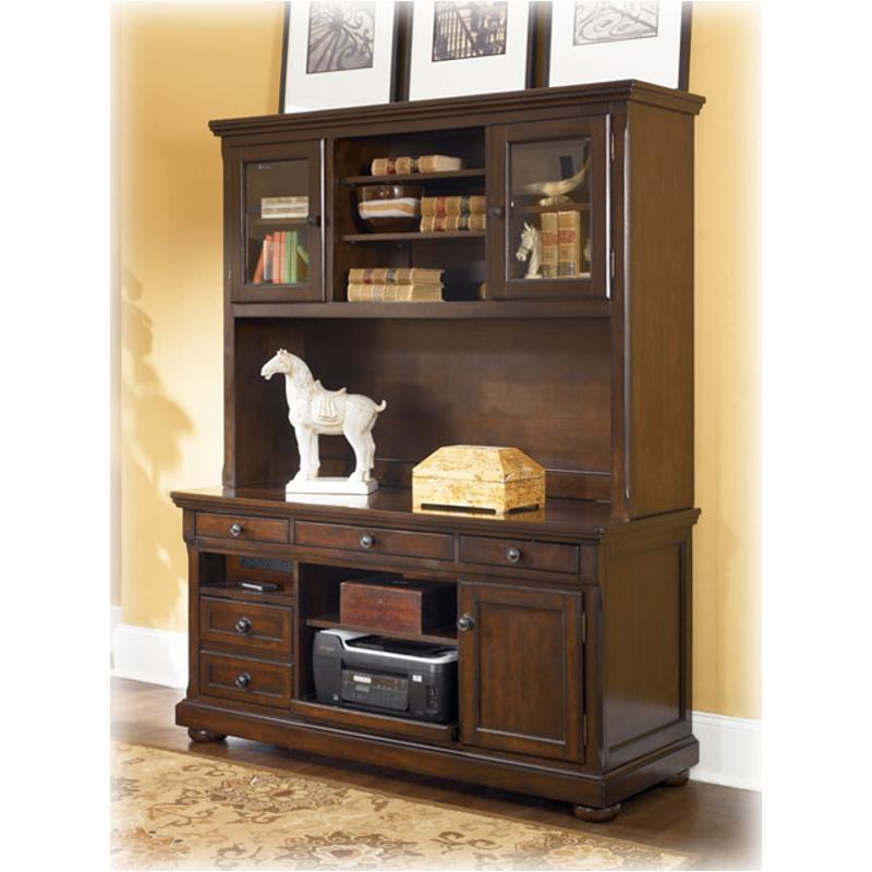 H697-49 Ashley Furniture Home Office Tall Desk Hutch