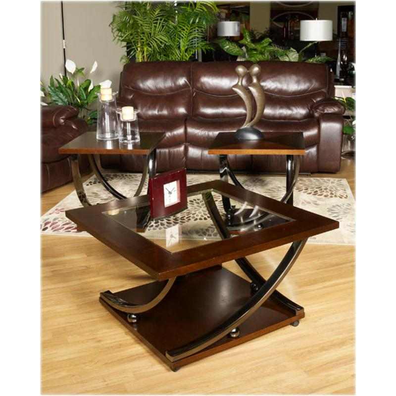Superb T628 8 Ashley Furniture Rollins Dark Brown Living Room Cocktail Table