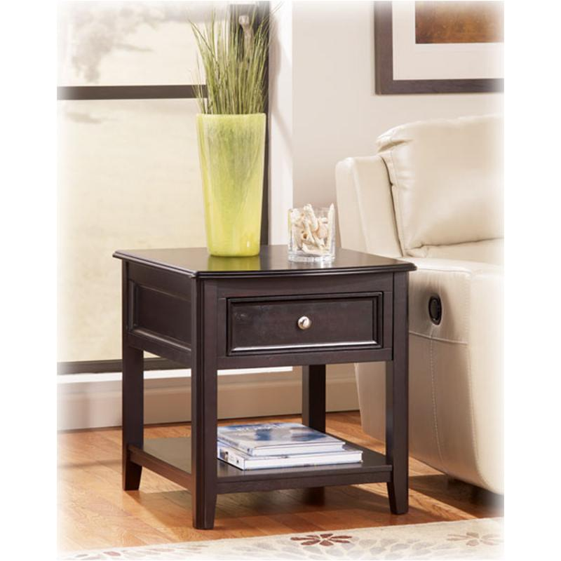 Awe Inspiring T771 3 Ashley Furniture Carlyle Almost Black Rectangular End Table Ncnpc Chair Design For Home Ncnpcorg