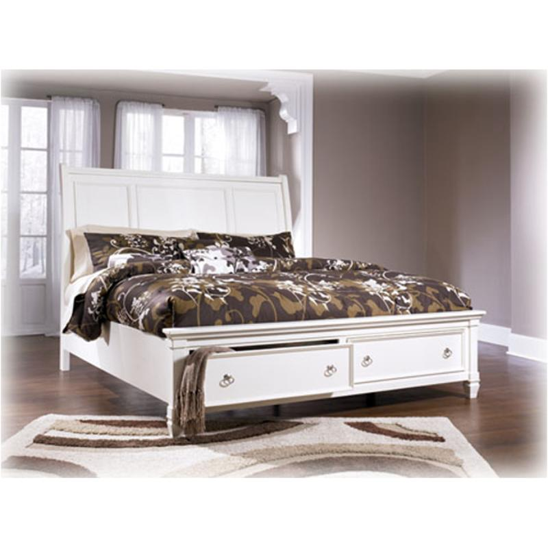 B672 77 Ashley Furniture Queen Sleigh Bed With Storage Fb