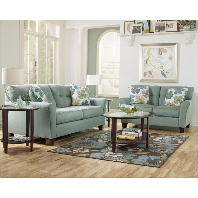6640038 ashley furniture kylee lagoon living room sofa for Ashley kylee chaise lounge