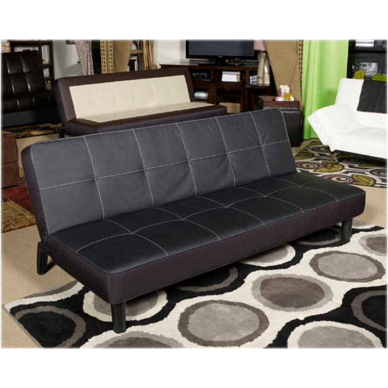 7050745 Ashley Furniture Vito Black Flip Flop Sofa