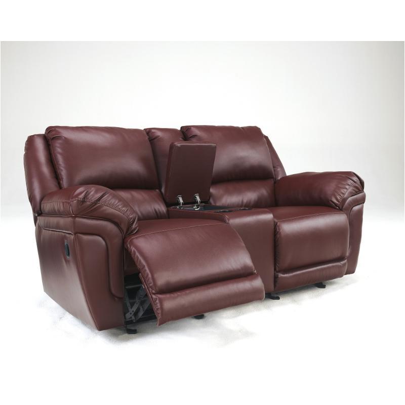 Groovy 7610043 Ashley Furniture Magician Durablend Garnet Glider Recline Loveseat W Console Uwap Interior Chair Design Uwaporg