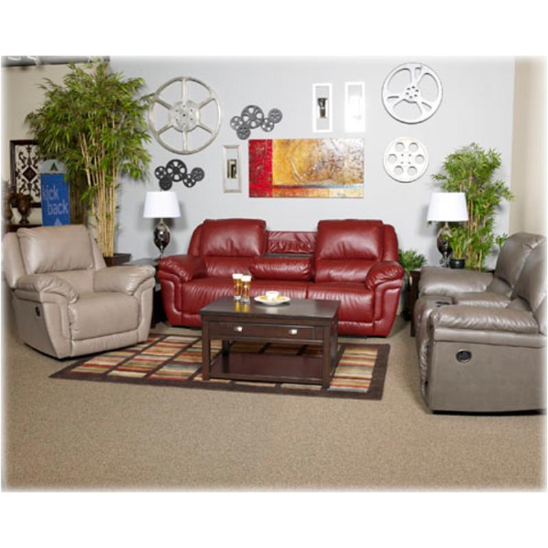 Miraculous 7610243 Ashley Furniture Magician Durablend Slate Glider Recliner Loveseat W Console Uwap Interior Chair Design Uwaporg