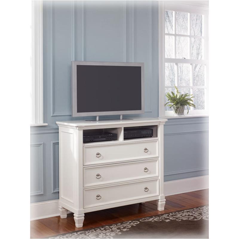 B672-39 Ashley Furniture Prentice - White Bedroom Media Chest