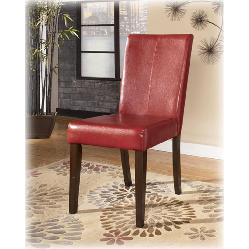 D432 01 Ashley Furniture Hansai Upholstered Side Chair Red