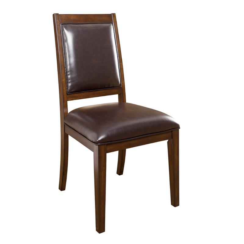 Leahlyn Reddish Brown Arm Chair Set Of 2: D696-01 Ashley Furniture Dining Upholstered Side Chair