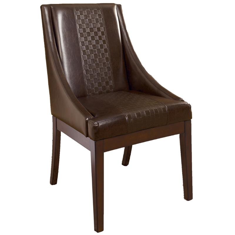 Leahlyn Reddish Brown Arm Chair Set Of 2: D696-02 Ashley Furniture Dining Upholstered Arm Chair