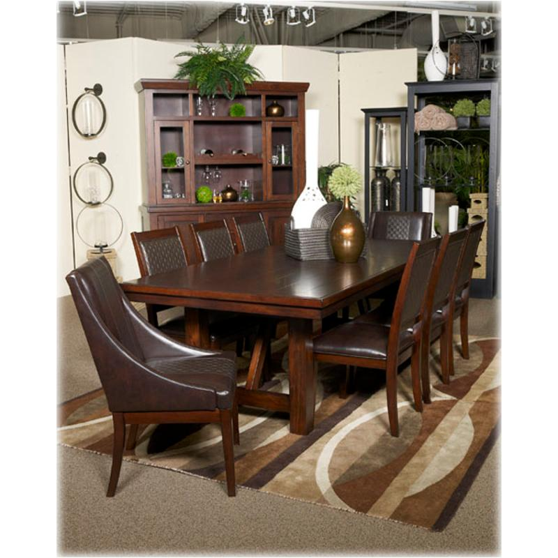 d69645 ashley furniture holloway reddish brown dining room dining table
