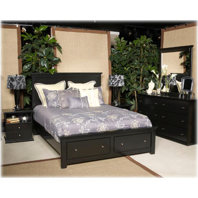 B138 95 Ashley Furniture Maribel Bedroom Bed Queen Platform Rails