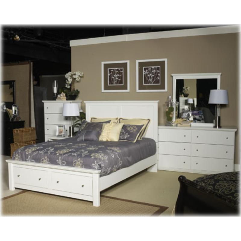 B139 58 St Ashley Furniture Bostwick Shoals White Bedroom Bed