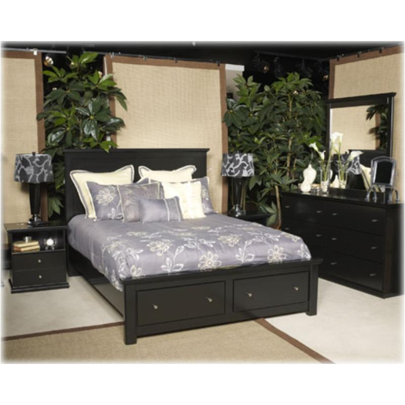 B138-58-st Ashley Furniture King Panel Bed With Storage Fb