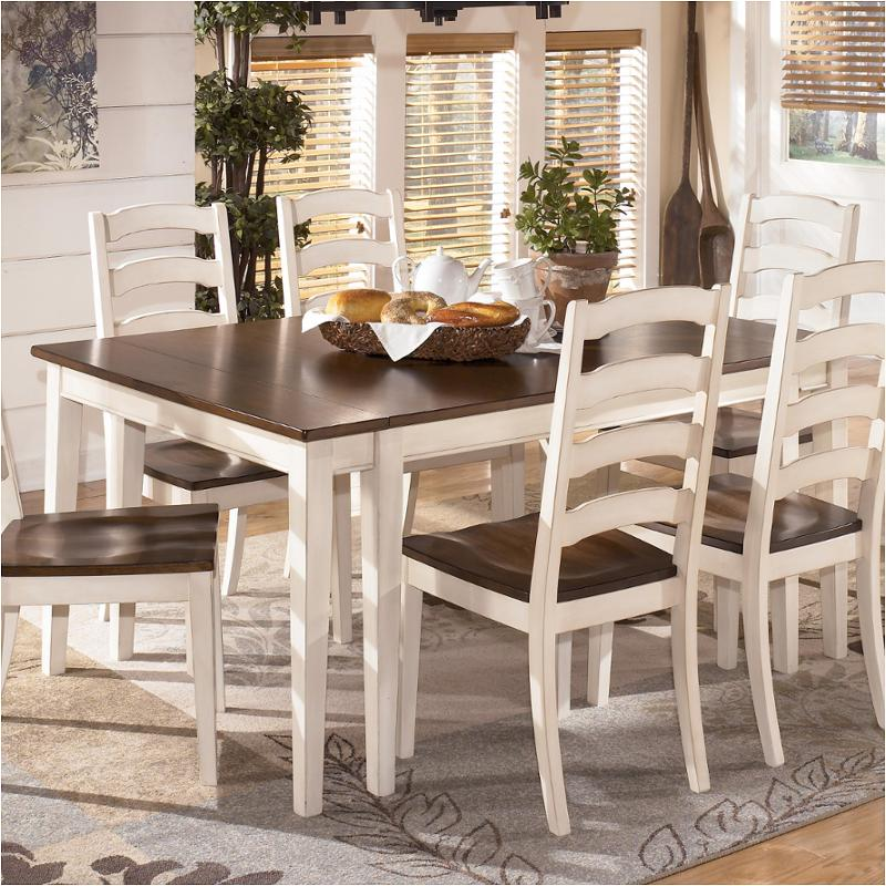 D583 45 Ashley Furniture Whitesburg Brown Cottage White Dining Room Dinette Table
