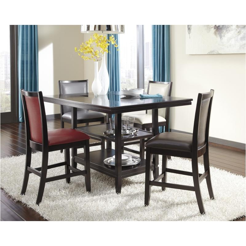 D550 32 Ashley Furniture Rectangular Dining Room Counter Table