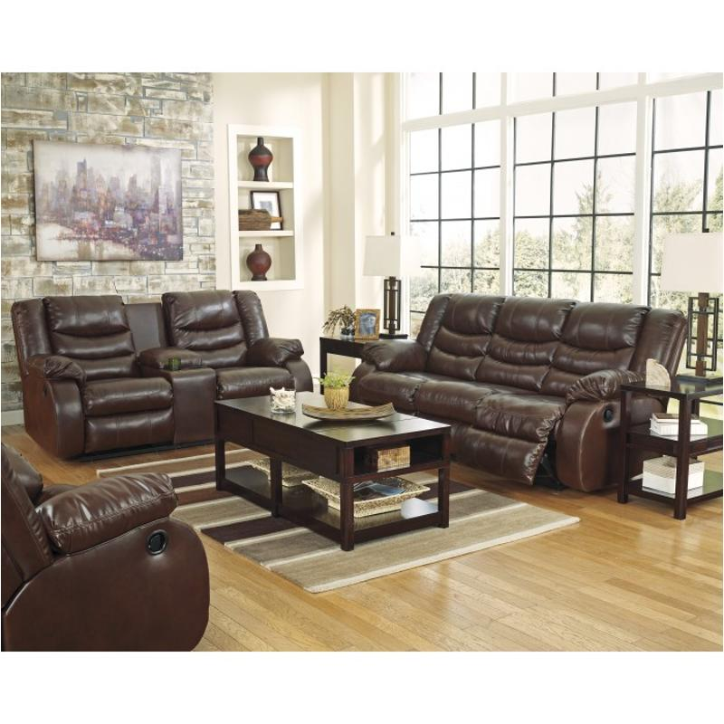 9520188 Ashley Furniture Linebacker Durablend - Espresso Living Room Sofa  sc 1 st  Home Living Furniture : reclining sofa ashley furniture - islam-shia.org
