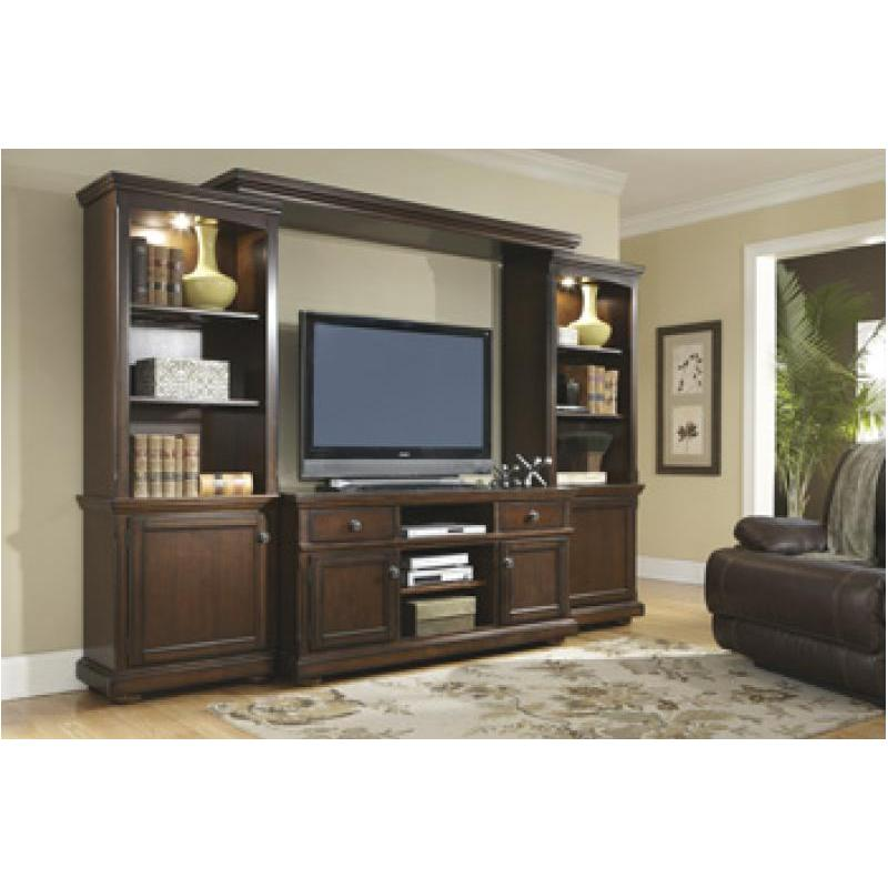 W697 35 Ashley Furniture Porter   Rustic Brown Home Entertainment  Entertainment Center