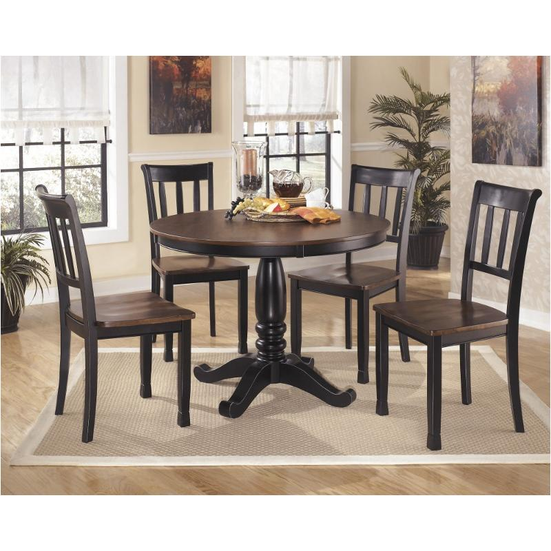 D580 15t Ashley Furniture Owingsville Black Brown Dining Room Dinette Table