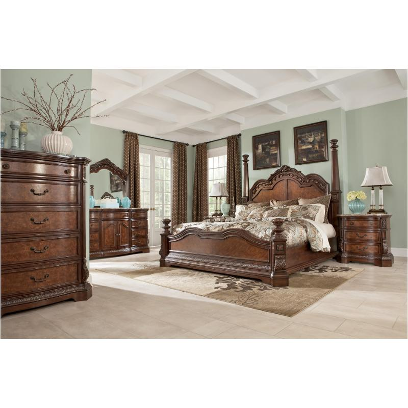 Ledelle Poster Bedroom Set From Ashley B705 51 71 98: B705-71 Ashley Furniture Ledelle