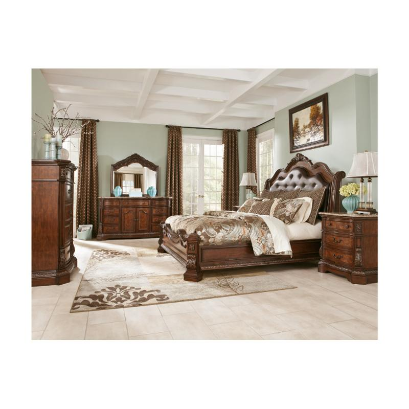 B705 57 Ashley Furniture Ledelle Brown Bedroom Bed