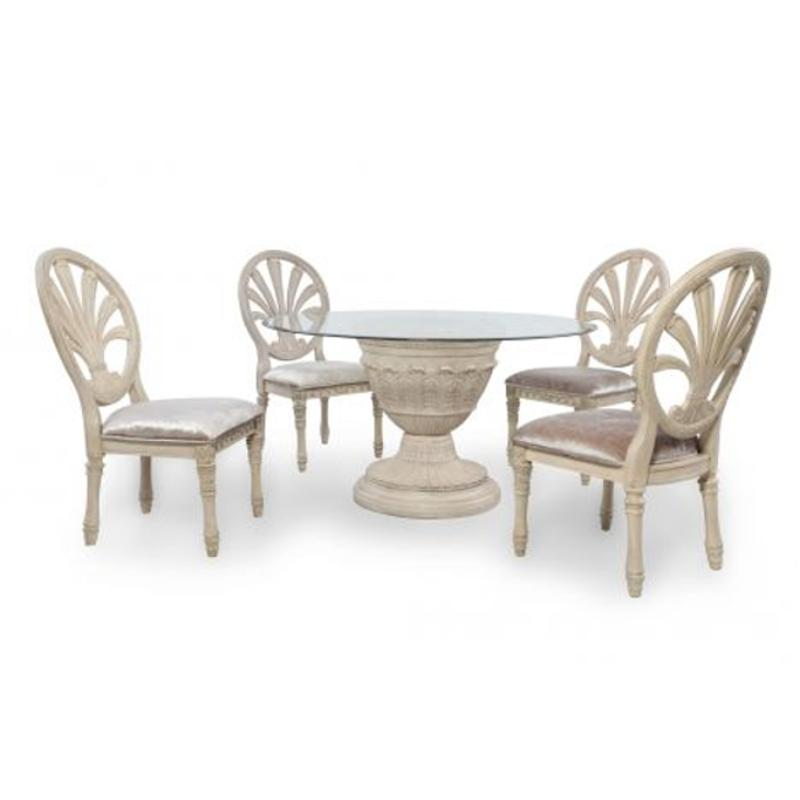 D707-50b Ashley Furniture Ortanique Dining Room Dinette Table  sc 1 st  Home Living Furniture & D707-50b Ashley Furniture Round Dining Room Pedestal Table