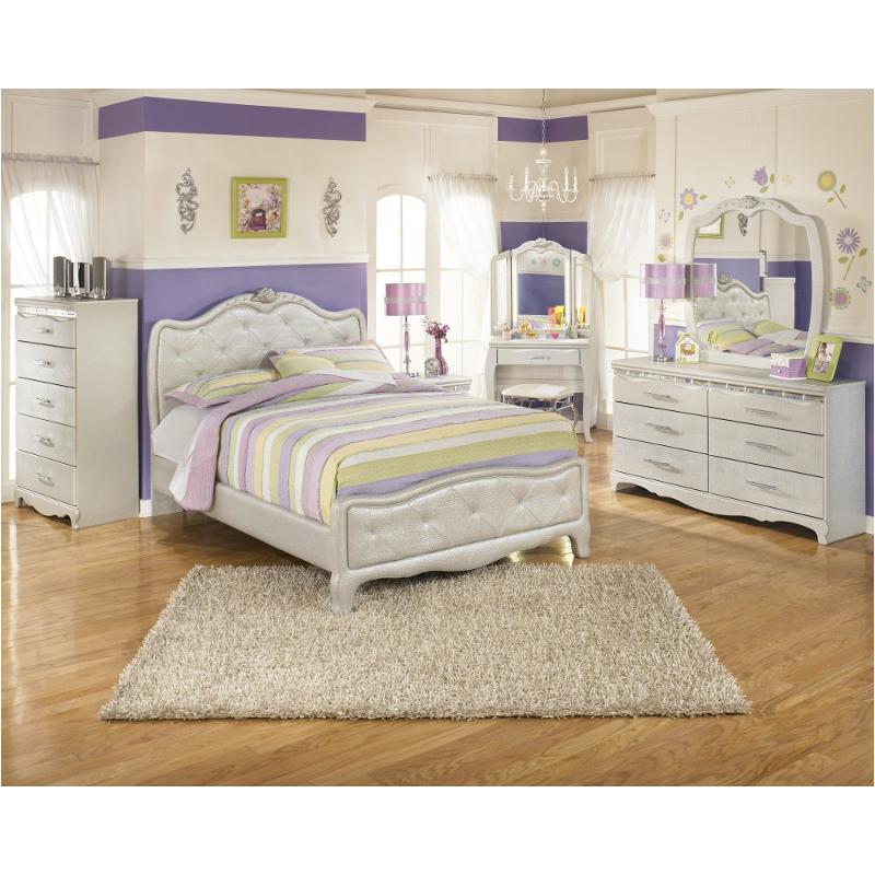 B657 77 Ashley Furniture Queen Upholstered Bed: B182-77 Ashley Furniture Zarollina Bedroom Full
