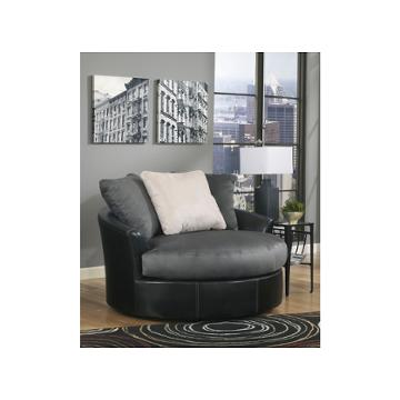 1420021 ashley furniture oversized swivel accent chair. Black Bedroom Furniture Sets. Home Design Ideas