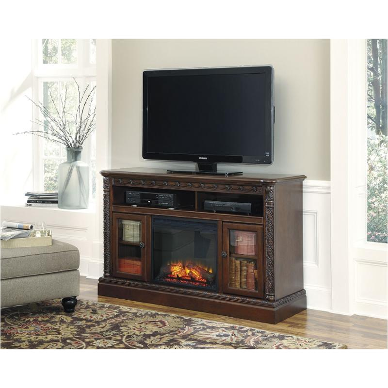W553-68 Ashley Furniture Large Tv Stand With Fireplace Option