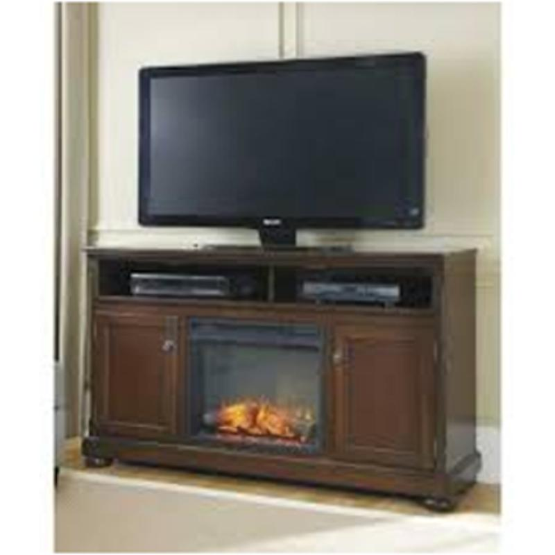 W697 68 Ashley Furniture Porter   Rustic Brown Home Entertainment Tv Console