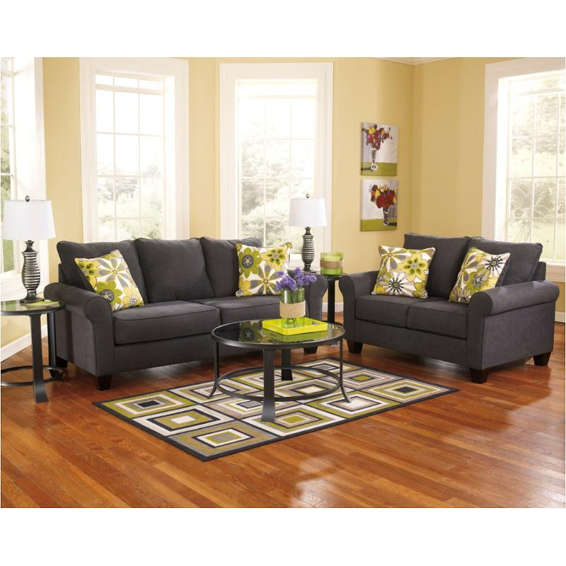 1650138 ashley furniture nolana charcoal living room sofa for Charcoal and red living room