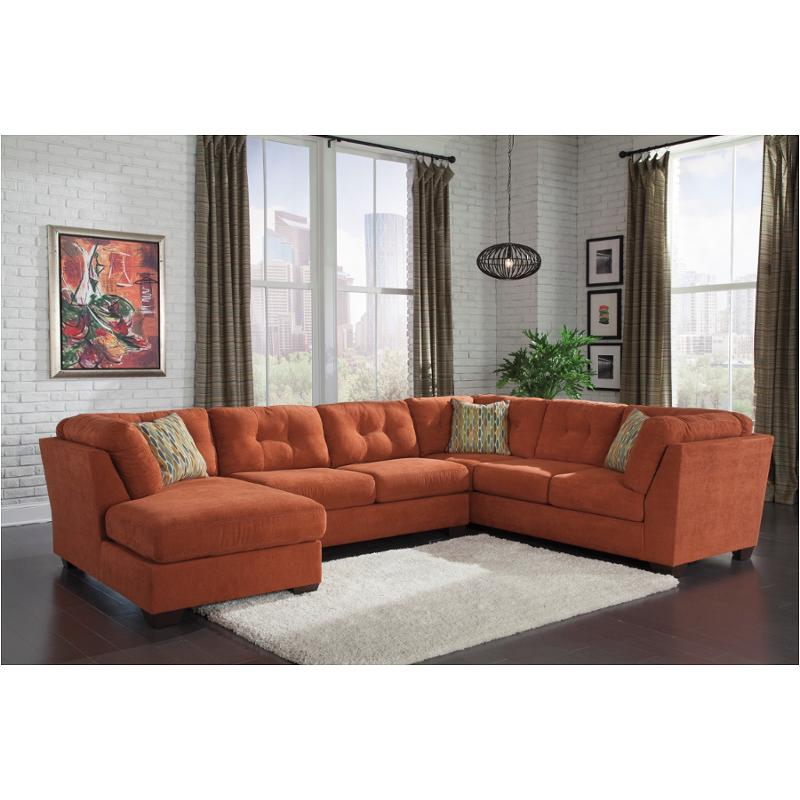 Attirant 1970138 Ashley Furniture Delta City   Rust Sofa
