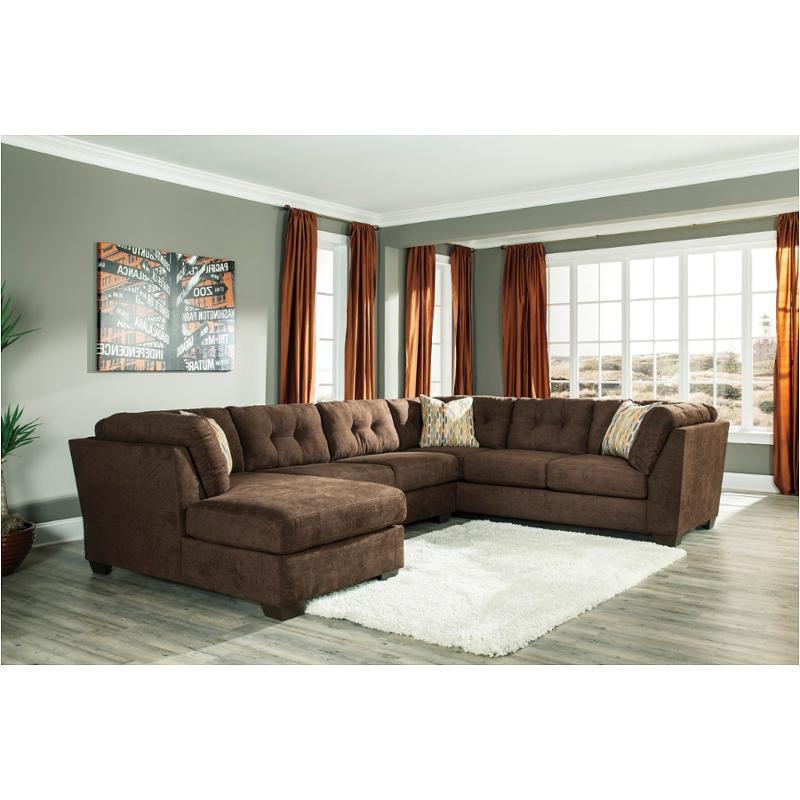 Pleasant 1970234 Ashley Furniture Delta City Chocolate Armless Loveseat Beatyapartments Chair Design Images Beatyapartmentscom