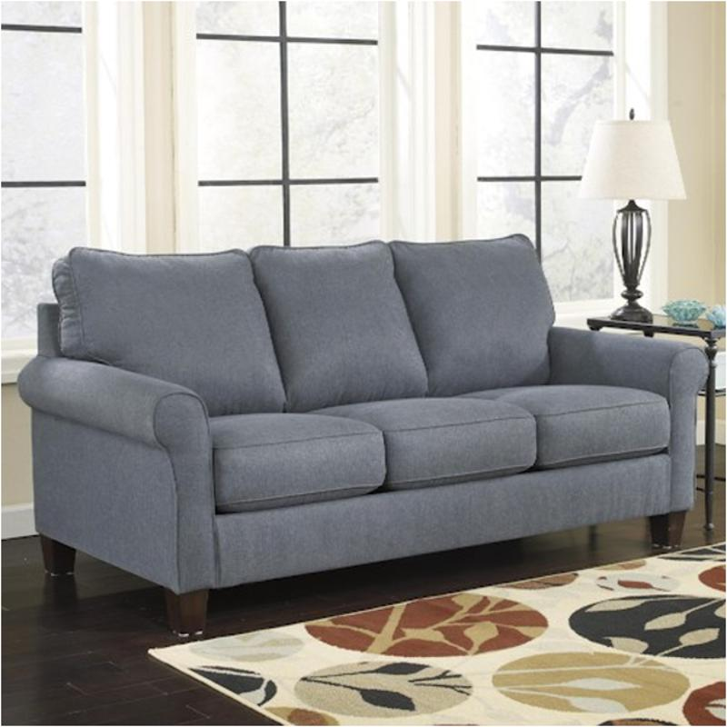 denim living room furniture 2710136 furniture zeth denim sofa sleeper 12886