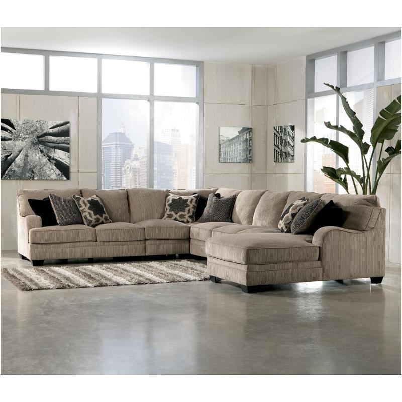 3050099 Ashley Furniture Katisha Platinum Armless Sofa