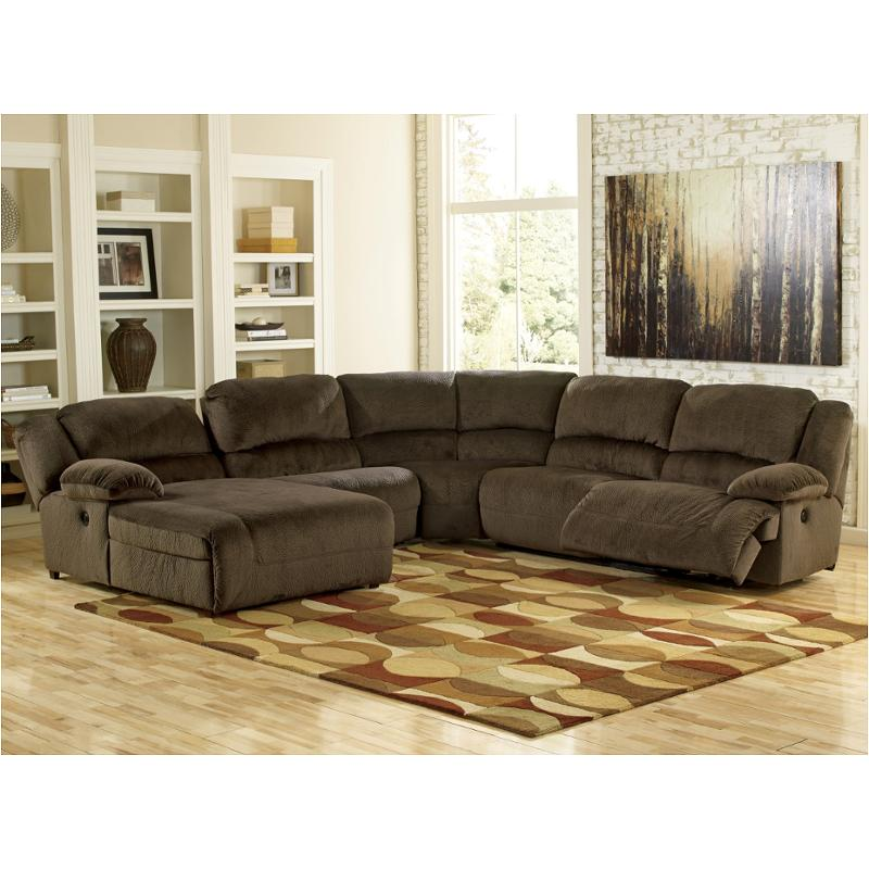 5670105 Ashley Furniture Toletta   Chocolate Living Room Sectional