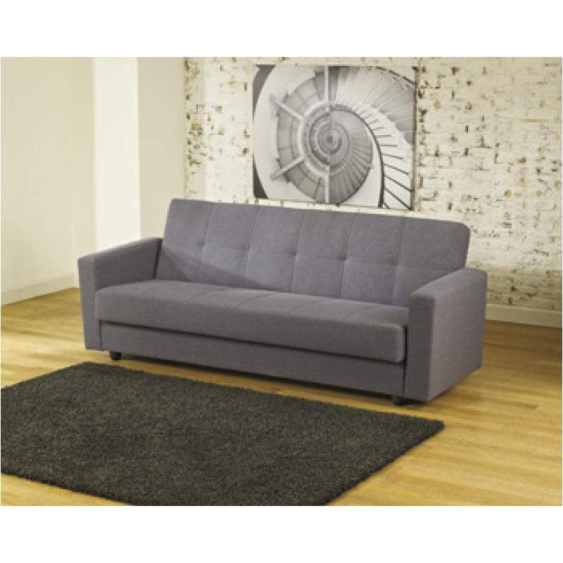 6720175 Ashley Furniture Pikka Gray Flip Flop Sofa