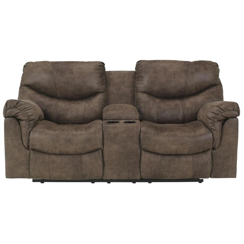 7140094 Ashley Furniture Alzena Gunsmoke Living Room Loveseat
