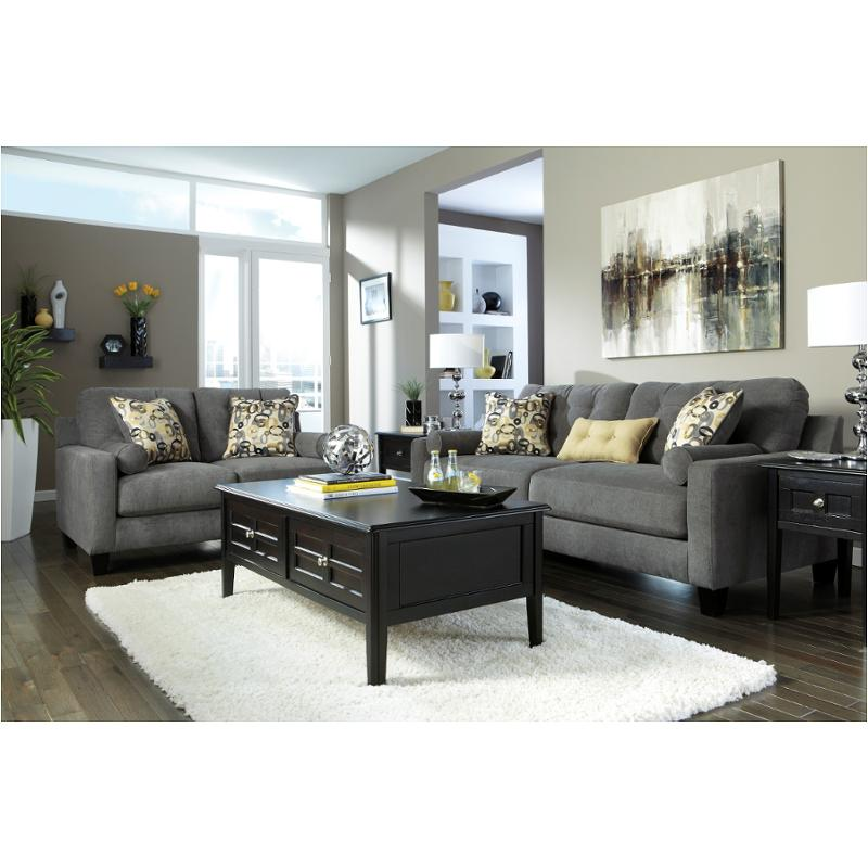 charcoal living room furniture 9700338 furniture mallbern charcoal living room sofa 12794