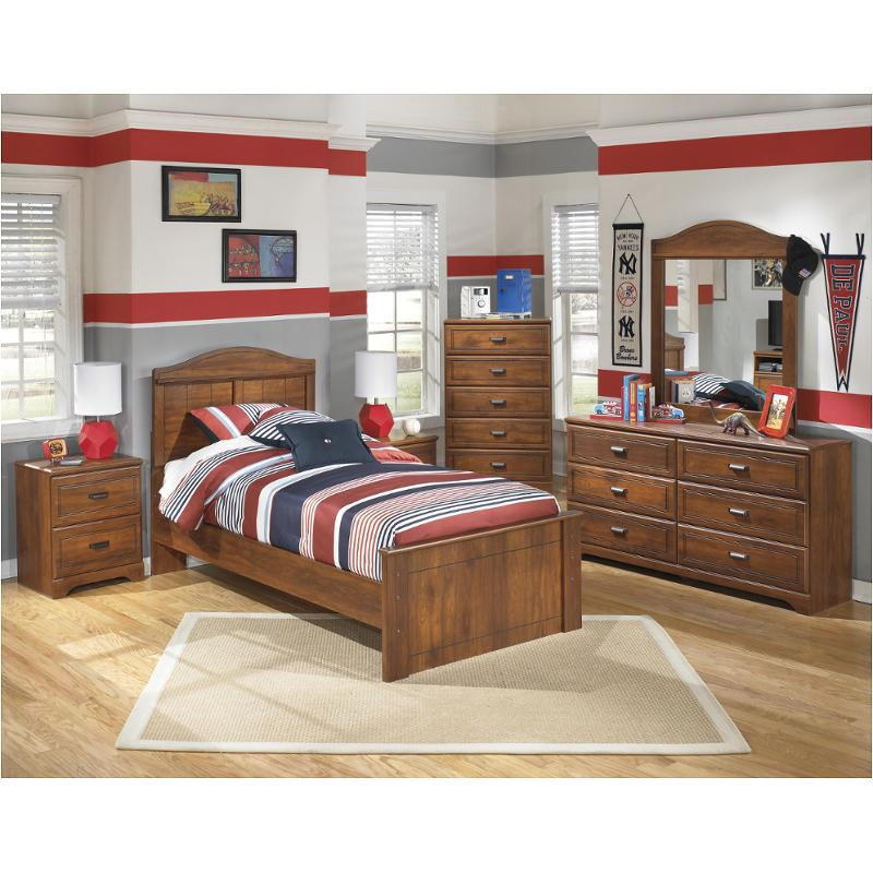 B228 53 Ashley Furniture Barchan Medium Brown Twin Panel Bed