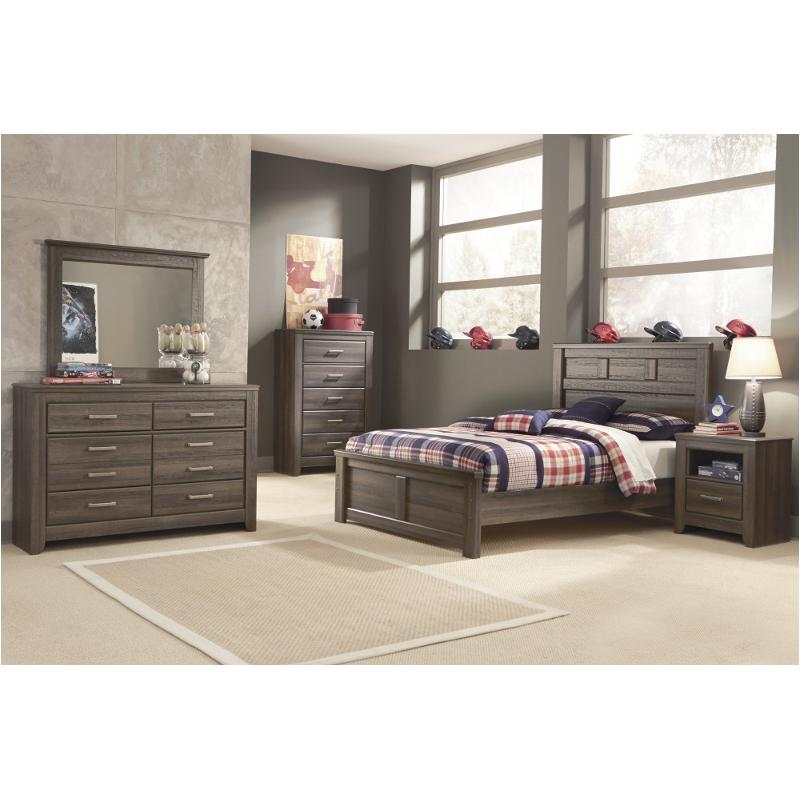 B251 87 Ashley Furniture Juararo Dark Brown Full Panel Bed