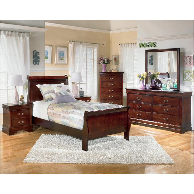 B376 53 Ashley Furniture Alisdair Dark Brown Twin Sleigh Bed