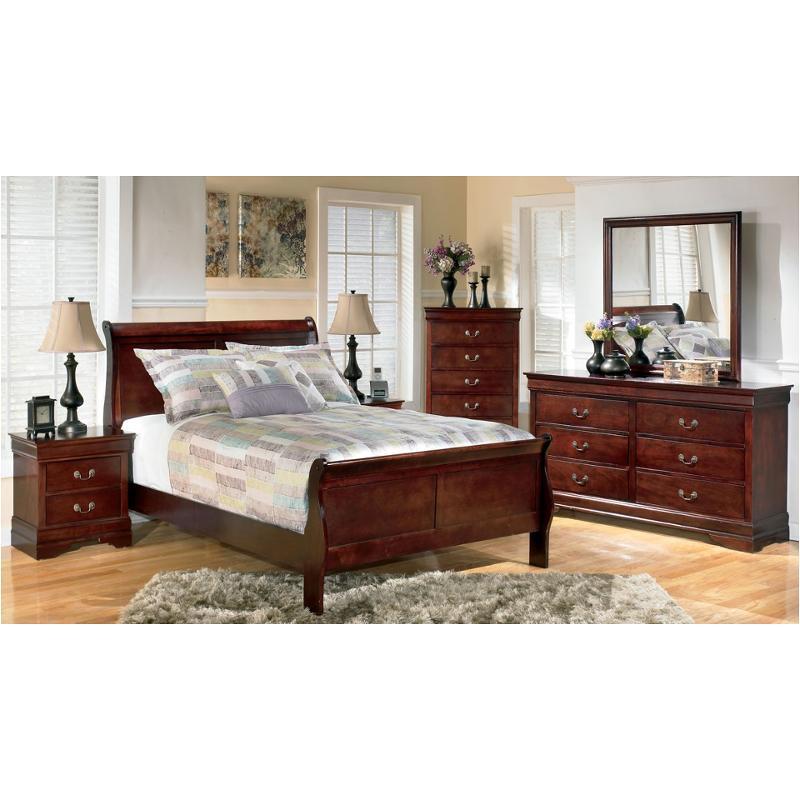 B376 55 Ashley Furniture Alisdair Dark Brown Full Sleigh Bed