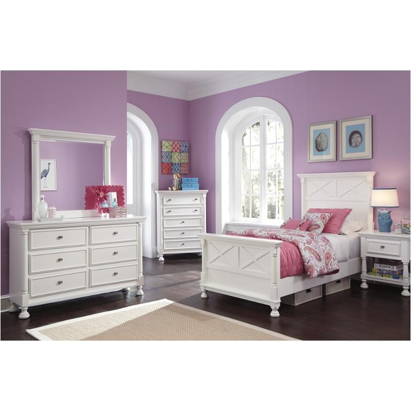 B502 53 Ashley Furniture Kaslyn Multi Bedroom Twin Panel Bed