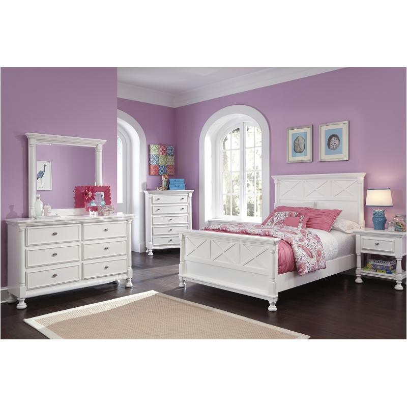 B502 87 Ashley Furniture Kaslyn Kids Room Full Panel Bed
