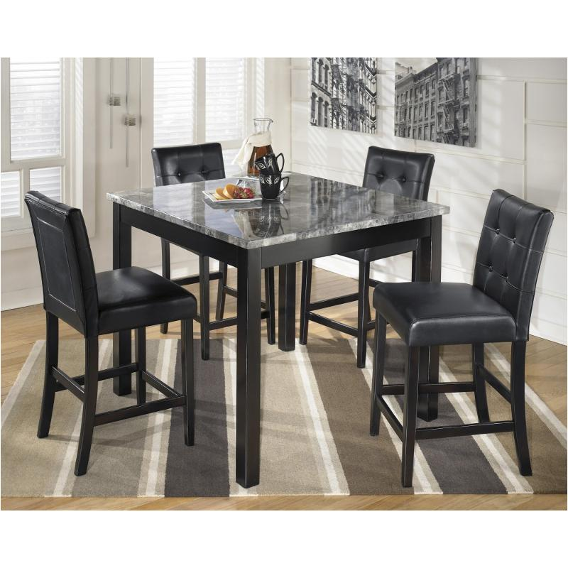 D154-223 Ashley Furniture Maysville - Black Square Counter Table Set